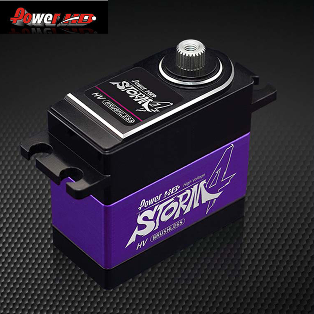 1pcs POWER HD-STORM-4 Metal Gear brushless digital servo compatible with FUTABA JR SAVOX цена