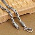 4 мм ручной работы тайские серебряное ожерелье 925 серебряное ожерелье ручной работы серебро 925 Neckace человек ожерелье