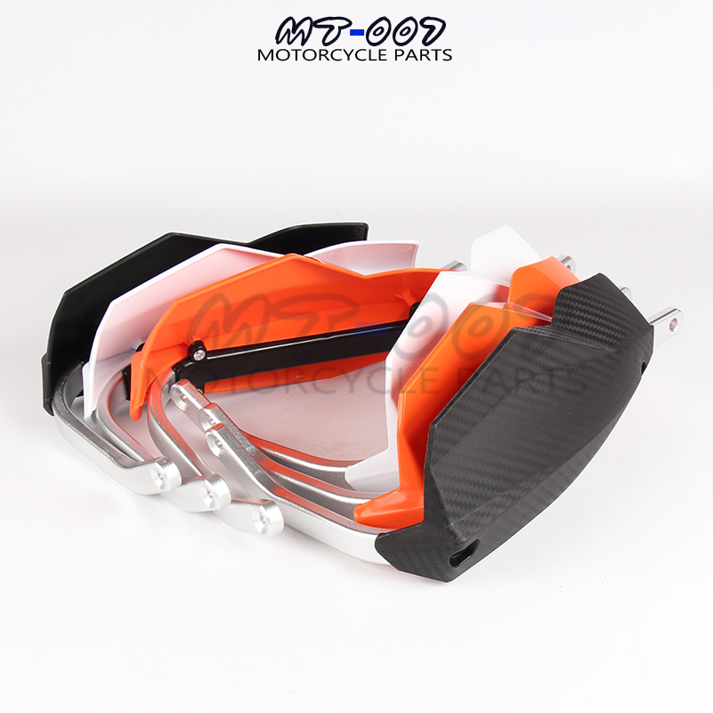 3 colors available black white orange 22mm motorbike parts moto protection motocross hand guard for KTM motorcycle handguard orange motorbike foldable