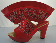 Italian African Shoes And Bag Set For Party In Women Italian Matching Shoe And Bag Set With Stones Woman Shoes ME2212
