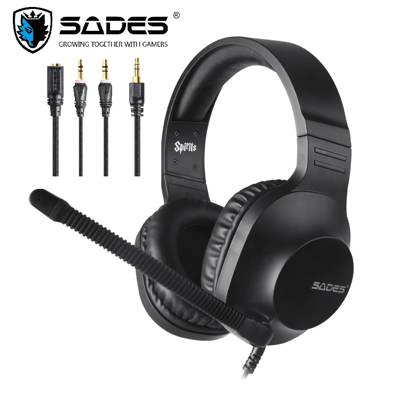 SADES Spirits Gaming Headset Gamer Headphones For PC / Laptop / PS4 / XBOX ONE ( 2015 Version ) / Mobile /VR Black image