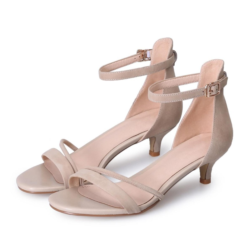 Med Negro Lenkisen Peep Suede Zapatos rosado Talones Ovejas Mujeres Estilo Nueva Toe Correas Hebilla Sandalias Verano Gladiador Simple blanco Oficina L07 Moda vvrw7Hq