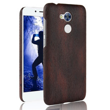 SuliCase Leather Case for Huawei Honor 6A Wood Grain Hard Cover Honor6A DLI-TL20 DLI-AL10 AL10