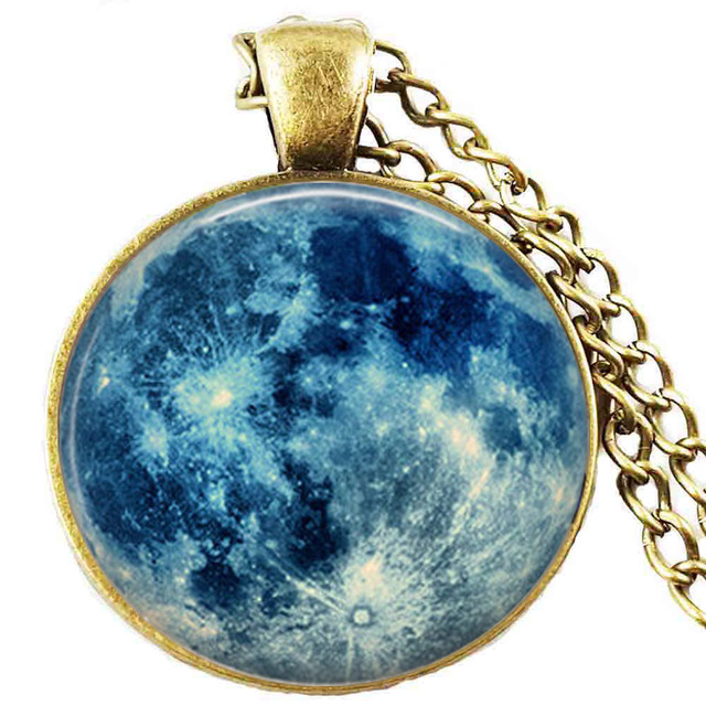 Blue moon necklace full moon jewelry moon pendant lunar pendant blue moon necklace full moon jewelry moon pendant lunar pendant moon jewelry aloadofball Images