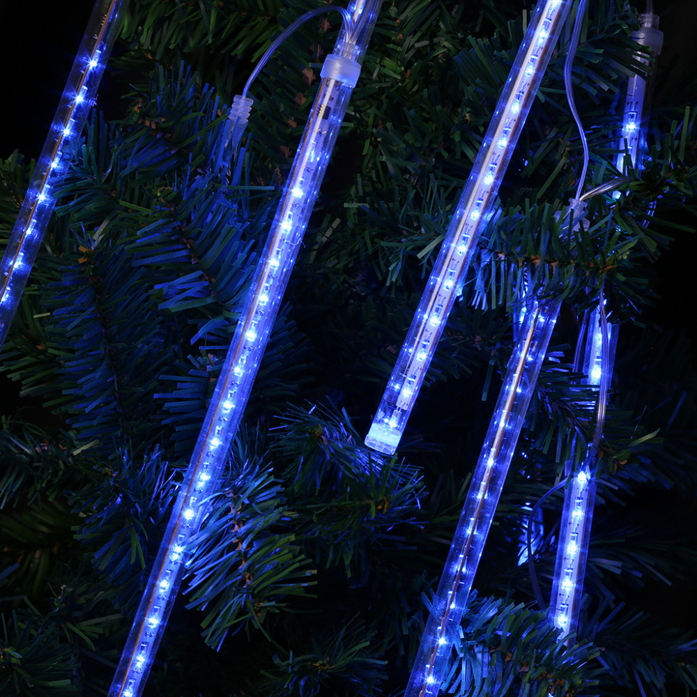 Led Christmas Lights Outdoor.Multi Color 13 1ft Meteor Shower Rain Tubes 8 Led Christmas Lights Wedding Party Garden Xmas String Light Outdoor Indoor Decor Party String Lights