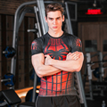 Men's Compression T Shirt , Men Fitness 3D Printed Spider Armor T-shirt
