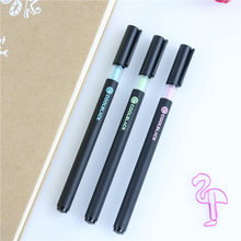 4 Pcs Cool Black Gel Pen Signature Pen Escolar Papelaria School Office Supply Promotional Gift Students Rewarding