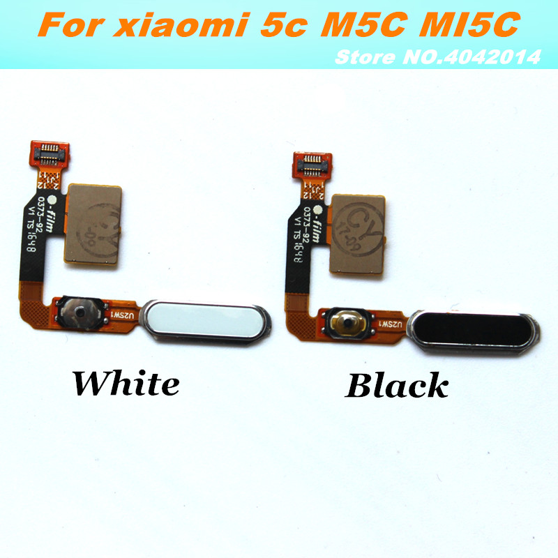 10 pcs Original tactile ID capteur d'empreintes digitales câble flexible pour Xiaomi 5C M5C tactile ID retour accueil bouton retour clé pièces de rechange