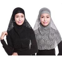 10 color 2pcs lace plain solid color lace cotton fashion print long shawls muslim hijab head scarves/scarf free shipping