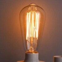 Lightinbox 40 Вт 220 В Ретро Эдисон Книги по искусству украшения ST64 лампочки E27 цена оптовой продажи 40 шт накаливания Винтаж лампы