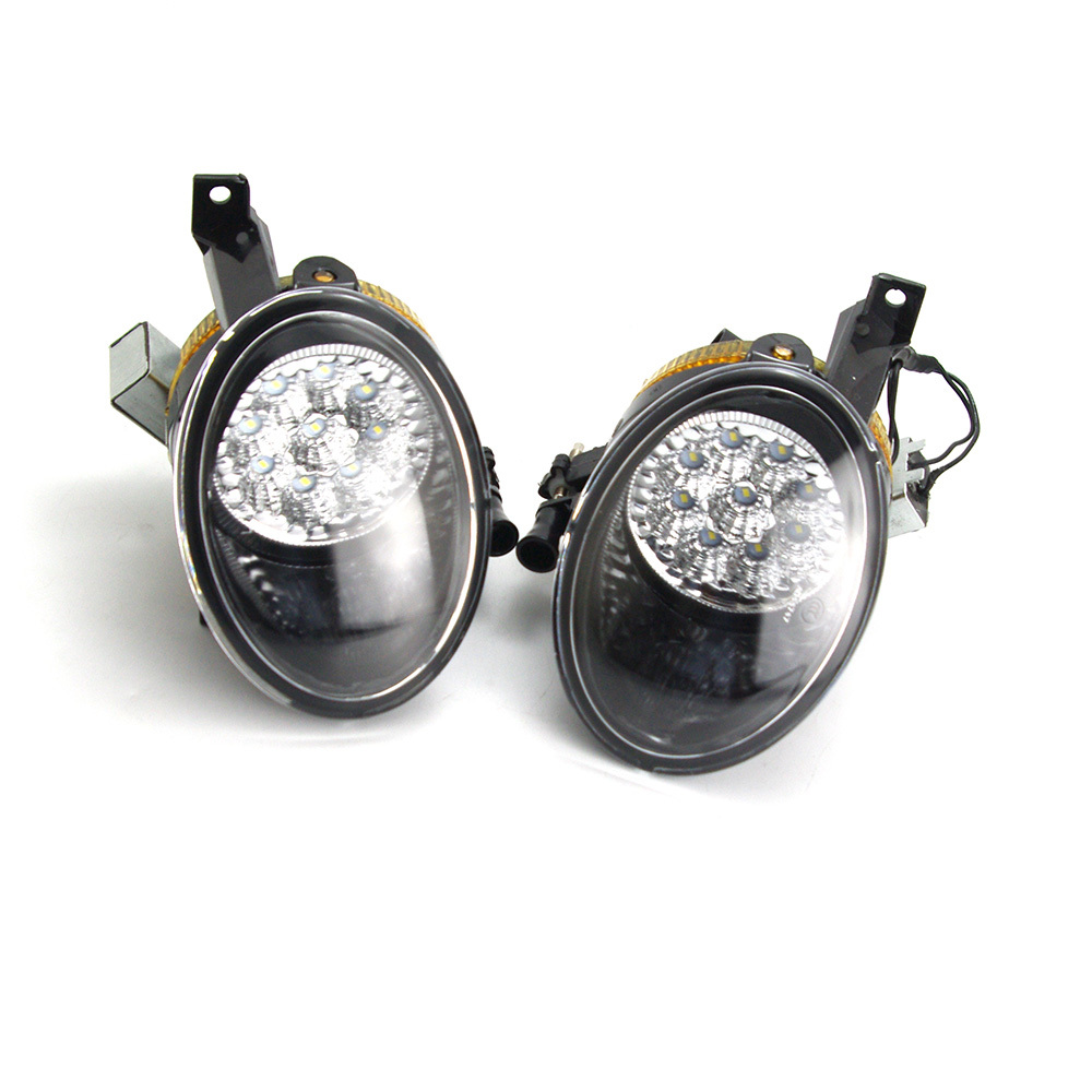 ФОТО One Pair Front Bumper LED Fog Light Lamp For VW Golf Jetta MK6 Tiguan 5KD 941 699 5KD 941 700 5KD941699 5KD941700