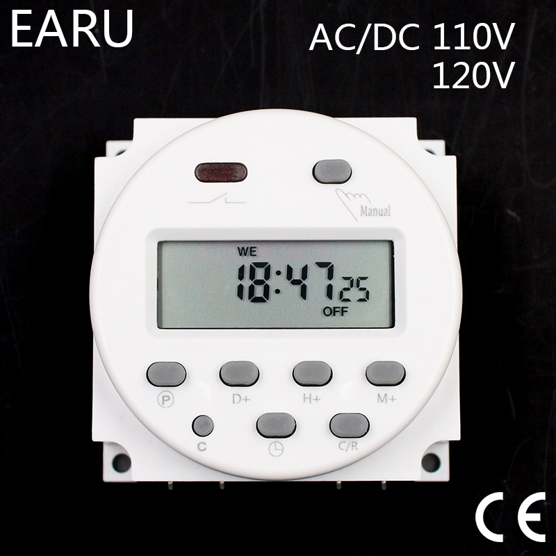 цена на 100 pieces CN101A Timer Switch DC12V Digital LCD Power Week Mini Programmable Time Switch Relay 8A to 16A witch Fedex Shipping