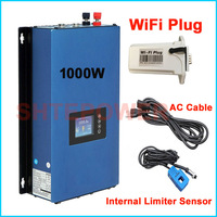 MPPT Solar power inverter 1000W Grid Tie inverter 1KW Wifi plug DC 22 45V input to AC output 110V/220V Auto limiter sensor
