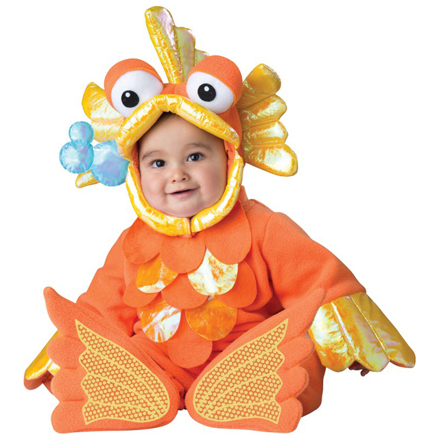 adorable infant giggly goldfish baby animal halloween costume