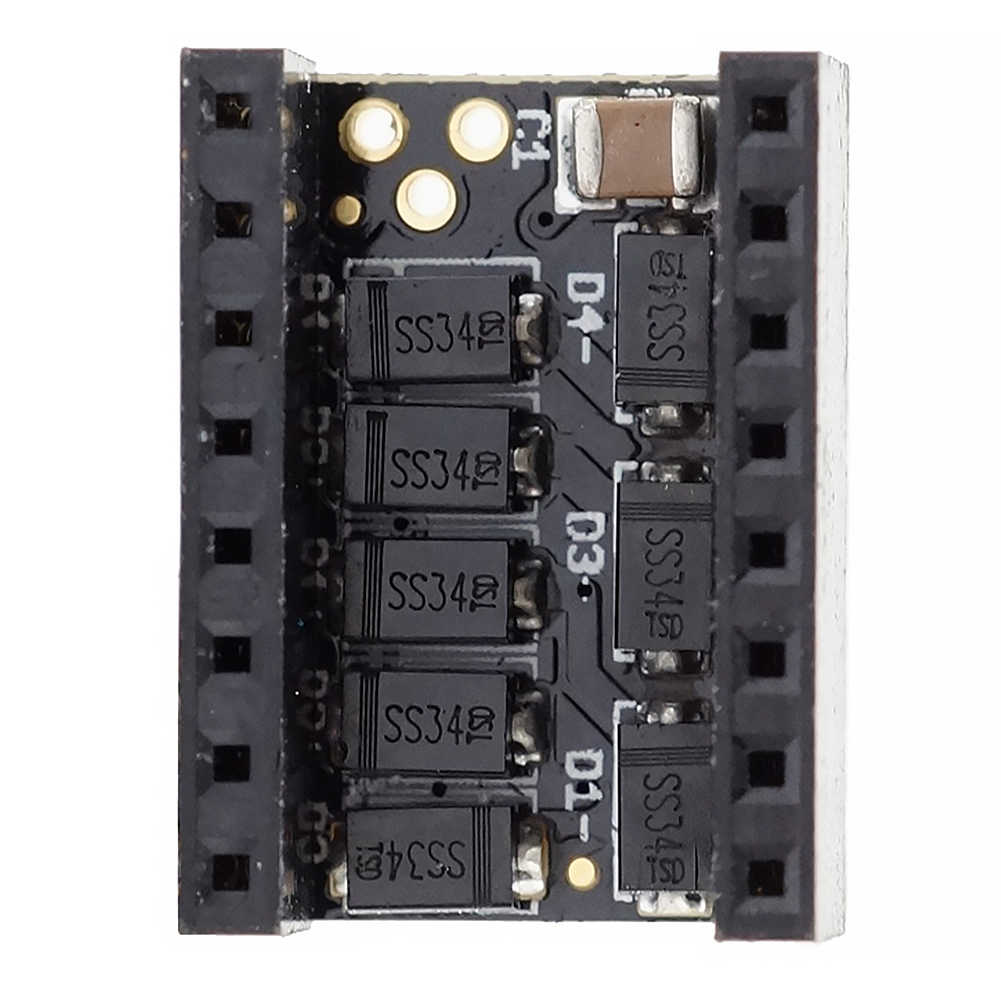 Modul Driver Motor 3D Printer Printer Stepper Bisu Filter Modul Pelindung Stepstick Bisu untuk TMC2100 A4988 Drv8825