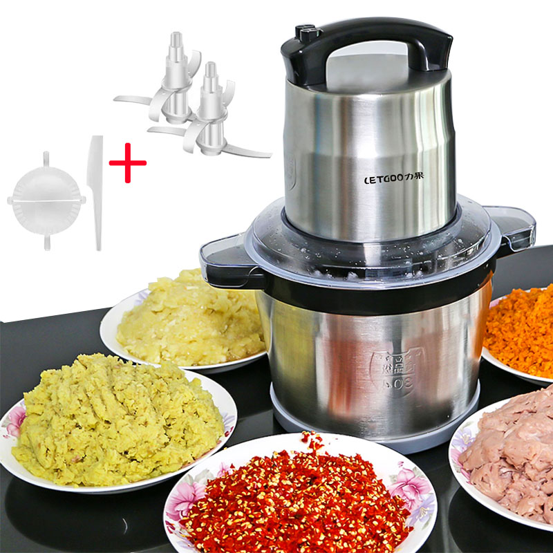 220V Stainless Steel 2 Speed 1200W(Max) 6L Large Capacity Mincer Meat Grinder Home Meat Grinder Food Processor
