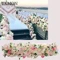 Hochzeit anordnung schießen requisiten künstliche blume blume reihe T bühne hochzeit zeremonie bögen blume dekoration-in Künstliche & getrockneten Blumen aus Heim und Garten bei