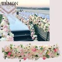 Wedding arrangement shooting props artificial flower flower row T stage wedding ceremony arches flower decoration