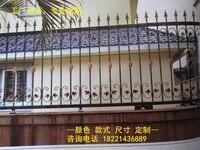 Hench 100% hecho a mano  diseños personalizados de vallas de hierro de 48 pulgadas de alto RPF101  valla residencial de hierro forjado