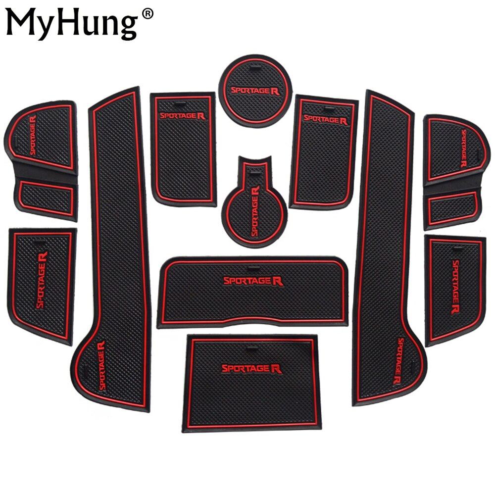 Für KIA Sportage R 2011 2012 2013 2014 Low Profile 3d Gummi Autoantirutschmatte Anti-rutsch-abdeckungen Innentürmatten Tasse Pad 12 stücke