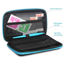 2DS XL/LL Portable Hard Bag Carry Storage Case 2 Screen Protector Glass film 1 Electromagnetic Touch Pen for New Nintendo