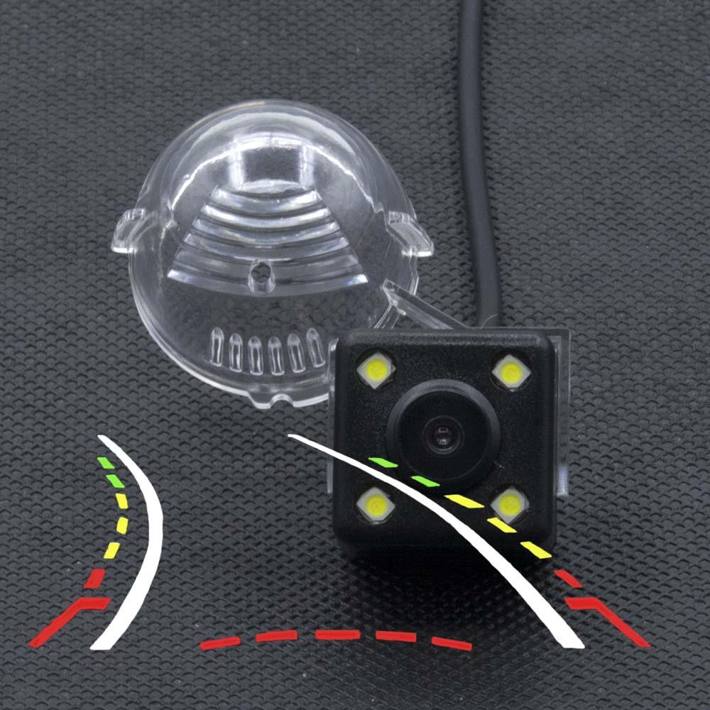 4LED Dinâmico Faixas Trajetória Câmara de visão Traseira Para Suzuki Grand Vitara SX4 SX-4 Hatchback Crossover Alto S-Cross câmera