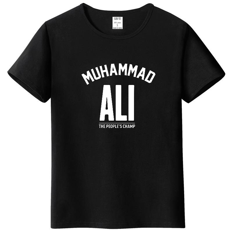 Men top MUHAMMAD ALI T shirt Casual Clothing men Greatest Fitness short sleeve printed top cotton tee shirt plus size
