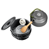 2 3 People Outdoor Camping Teapot Coffee Kettle Cooking Pots and Pans Kitchen Set