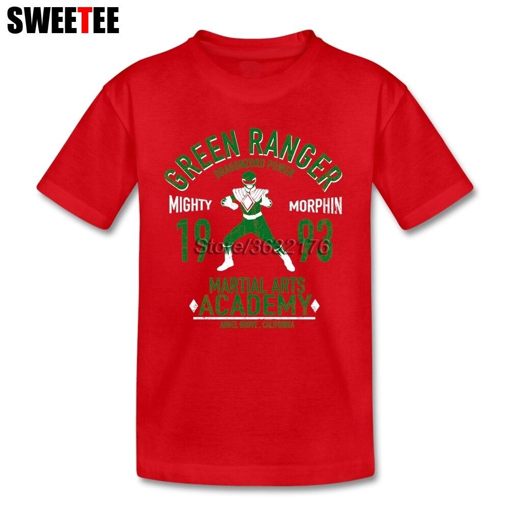 Дракон Ranger Camisetas сына из 100% хлопка для мальчиков и девочек короткий рукав футболки для отдыха ребенка От 4 до 8 лет Футболки для женщин