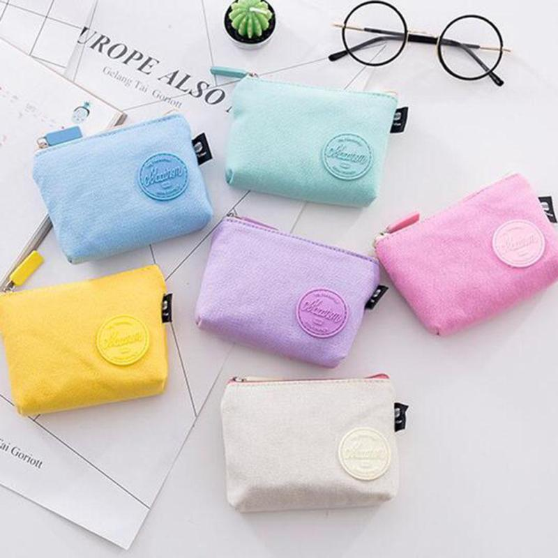 Fashion Cute Coin Purse Pouch Mini Purse Candy Color Summer Cotton Cloth Small Purses Wallet Coin Bag Holders Women Mini Purse 5