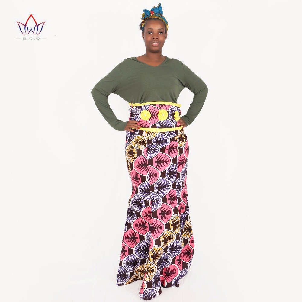 US $39.22 16% OFF|Custom African Print Skirt Fashions Women Clothing Long  African Skirts Mermaid Maxi Skirt Plus Size African Clothing BRW WY078-in  ...