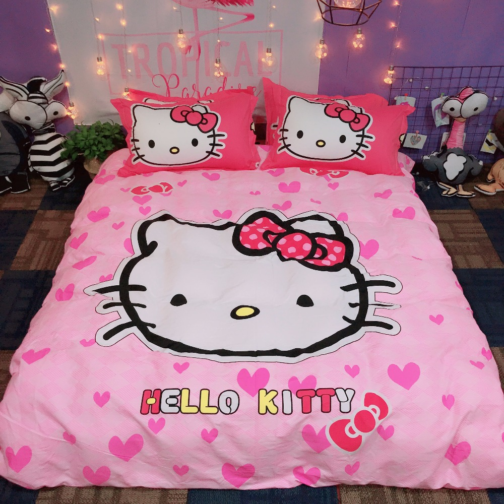 Verwonderend New Cartoon Hello Kitty Style children Bedding Sets 3 4pcs Bed set LX-16