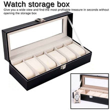 Grids PU Leather Watch Boxes Storage Organizer Box Luxury Jewelry Ring Display Watch Case Black Display Case Box jewelry boxes new 3 slots roll leather watch storage box case black men s mechanical display watch case women bracelet jewelry gift boxes