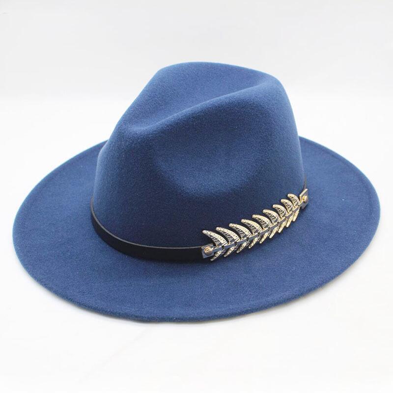 9b20e1b6f Wool Wide Brim Felt Fedora Trilby Hat For Women Men Winter Autumn Wide Brim  Jazz Church Godfather Sombrero Caps