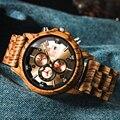 Модные деревянные мужские часы из натурального дерева зебры наручные часы с датой и несколькими часовыми поясами reloj hombre мужские подарочны...
