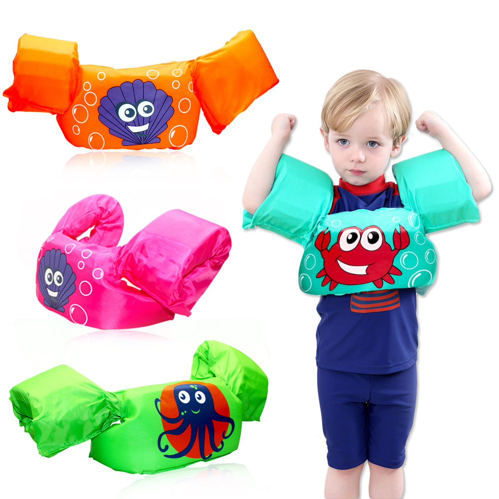 Baby Floating Arm Circle Swimsuit Children Cute Cartoon Life Jacket Safety Foam Toddler Buoyancy Vest Swimming Pool Accessories