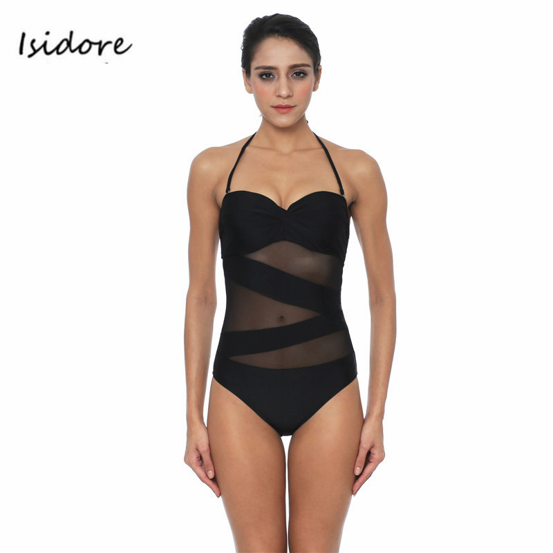 Swimming Suit Women <font><b>One</b></font> <font><b>Piece</b></font> <font><b>Swimsuit</b></font> <font><b>Black</b></font> <font><b>Halter</b></font> Sexy Bathing Suit 2017 Hot Monokini High Waist Bathing Suit Strappy Swimwear