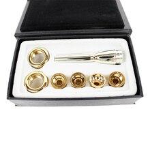 6 шт./лот 2C 3C 2B 3B мундштук для Bb трубы латунь позолоченный многоцелевой T адаптер Профессиональный с покрытием Золотым Лаком сопла