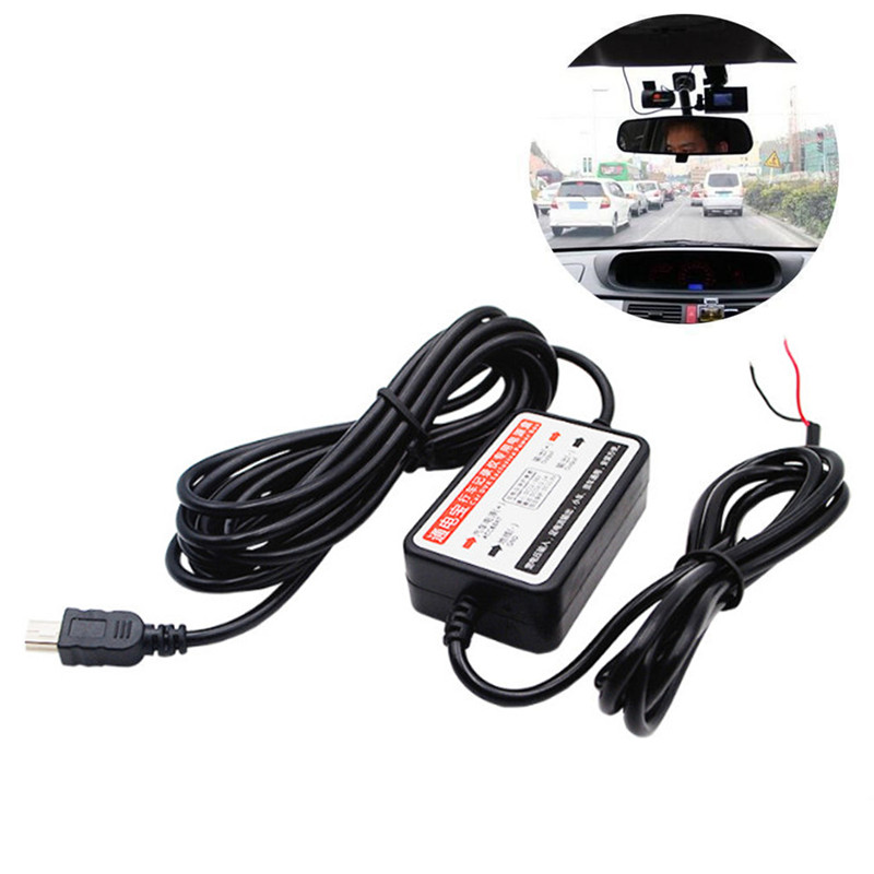 Car Dash Cam Hardwire Kits 12//24V to 12V with DC 3.5 Head Adapter Cable 3.5M