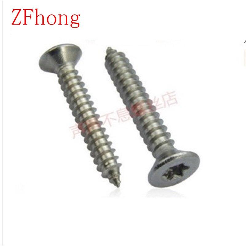 100pcs/lot ST3.9*8/10/13/16/19/25/30/35/38 Stainless Steel A2 Torx Screw SUS 304 Flat Head Self Tapping Torx Screw