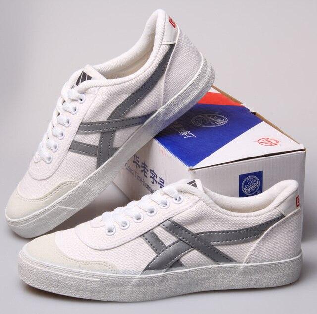 b359daac0e9 Warrior shoes tennis shoes lacing shoes canvas white cow muscle  slip-resistant outsole sports school shoes k-1