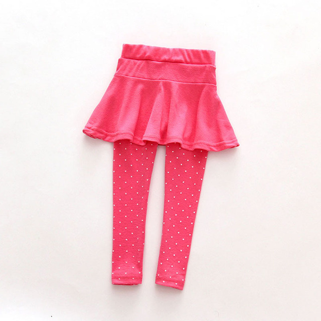 Baby Toddler Girls Pantskirt Warm Culotte Leggings Tutu Skirt Pants