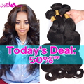Brazilian Virgin Hair Body Wave Cheap Human Hair 3 Bundle Deals Rosa Hair Products 7A Unprocessed Brizilian Virgin Hair Body