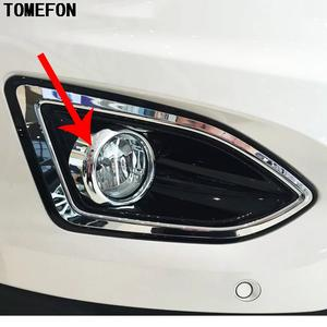 Tomefon Abs Chrome For Ford Edge  Auto Front Bottom Inside Fog Light Lamp Cover