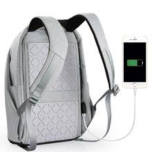 Unisex Backpack Men Satchel 15.6 Laptop Backpack USB Charge