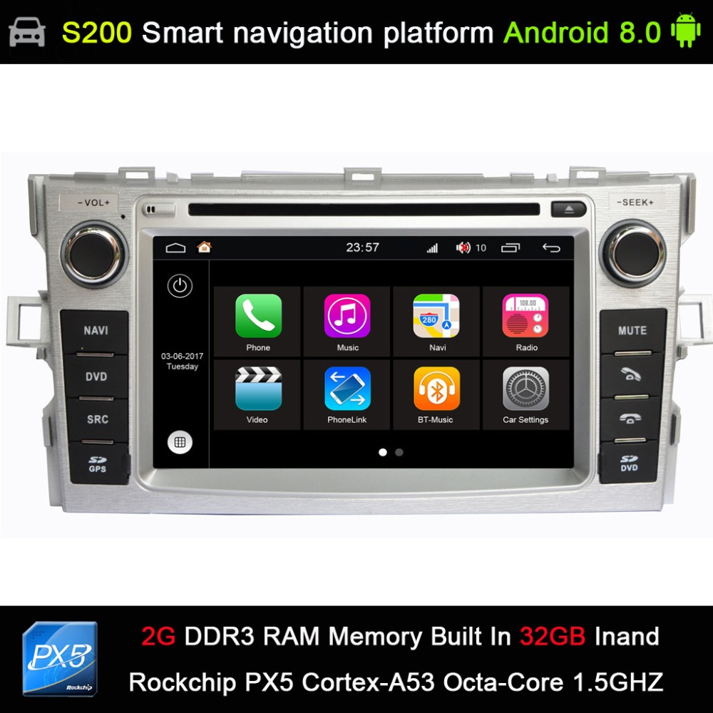 medium resolution of android 8 0 px5 octa 8 core cpu 2g ram 32gb rom car dvd radio gps