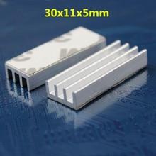 10 Pieces/lot 30x11x5mm DIY CPU IC Heat Sink LED Extruded Aluminum Heatsink