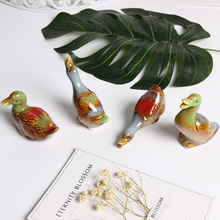 4 pieces high density ceramic pet duck Decorative table decoration accessories Birthday gift