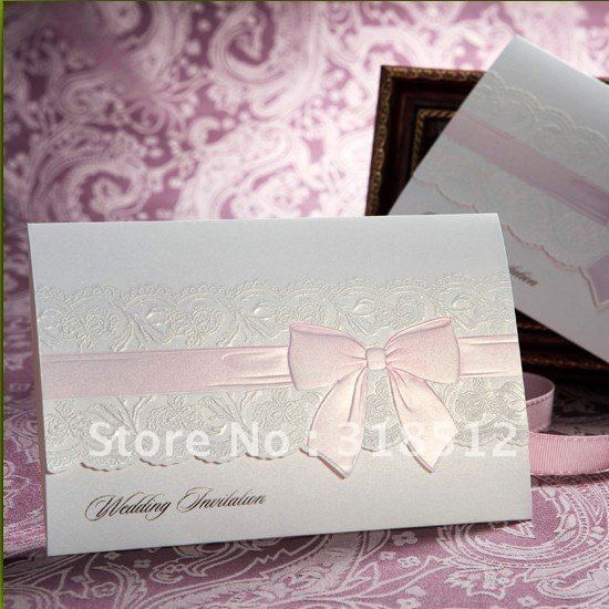 Unique Embossed Sweet Wedding Invitation Card Gifts And Favor Free Wording Printing