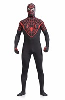 High Adult Stretch Black Red Spiderman Suit Zentai Cosplay Mens Full Body Spandex Suit Lycra Spiderman